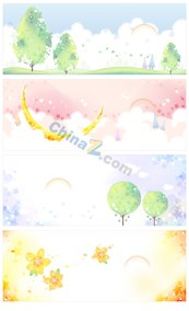 Link toCute cartoon wallpapers-vector template