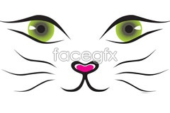 Link tovector face cat Cute