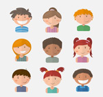 Link toCute child's head vector