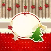 Link toCute christmas cards with frame vector set 02