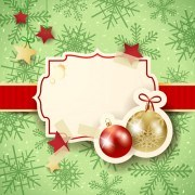 Link toCute christmas cards with frame vector set 06