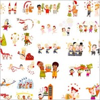 Link toCute christmas characters vector