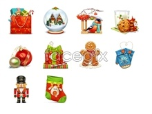 Link toCute christmas design icons