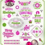 Link toCute christmas holidays labels design vector 01