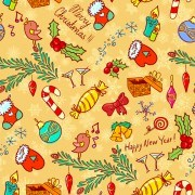 Link toCute christmas seamless pattern vector 05