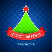 Link toCute christmas tree backgrounds vector 01