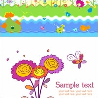 Link toCute colorful flowers theme vector