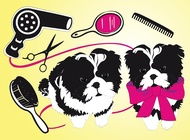 Link toCute dogs beauty salon vector free