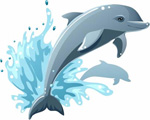 Link toCute dolphin vector