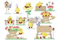 Link toCute easter egg chickens vector