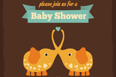 Link toCute elephant babies party poster vector graphics