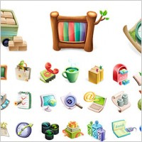 Link toCute exquisite three-dimensional icon vector material-1