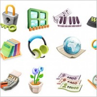 Link toCute exquisite three-dimensional icon vector material-2