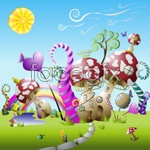 Link toCute fairy tale world vector