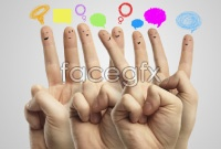 Link toCute finger face hd pictures