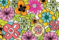 Link toCute flower background vector ii