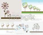 Link toCute flowers trees vector
