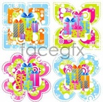 Link toCute gifts vector