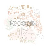 Link toCute giraffe vector