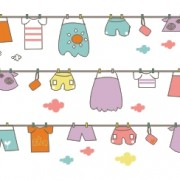 Link toCute hand drawn hang the clothes vector background free