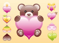 Link toCute heart vectors free