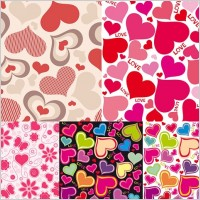 Link toCute hearts background vector