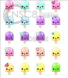 Cute ice-cream desktop icons