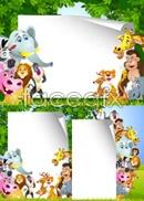 Link toCute jungle animals vector