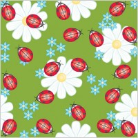 Link toCute ladybug flowers vector background