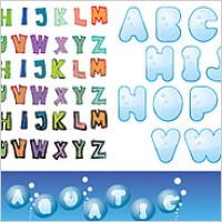 Link toCute letters of the alphabet vector material