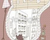 Cute line vector illustration-52