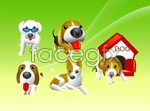 Link toCute little dog vector