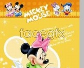 Link toCute mickey mouse donald duck cartoon-yellow background psd