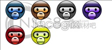 Link toCute monkey face icon