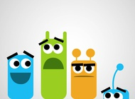 Link toCute monster characters vector free
