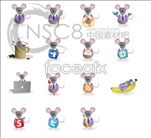 Link toCute mouse desktop icons