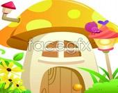 Link toCute mushroom houses psd