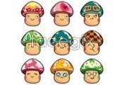 Link toCute mushrooms look icon vector