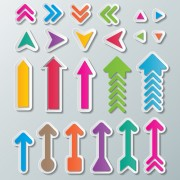 Link toCute paper arrows vector free