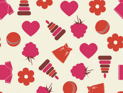 Link toCute patterned background picture material