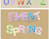 Link toCute patterns of english alphabet vector