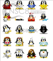 Link toCute penguin desktop icons