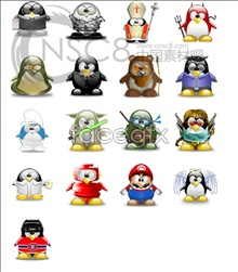 Link toCute penguin icon: standard edition