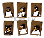 Link toCute penguin photo frame vector