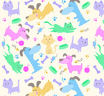Link toCute pet backgrounds vector