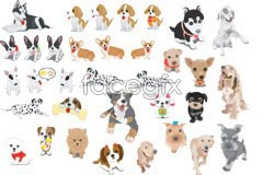 Link tovector dog pet Cute