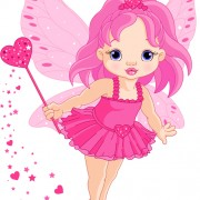 Link toCute pink fairy characters vector 01 free
