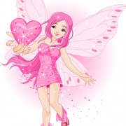 Link toCute pink fairy characters vector 02 free