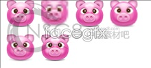 Link toCute pink pig icon