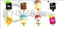 Link toCute popsicle cartoon icons